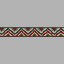 GALÓN JACQUARD INCAS 4840 C.176 MULTICOLOR 20 mm.