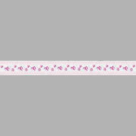CINTA GROSGRAIN ESTAMPADA FLORES 054476.016.0029 BLANCO 16 mm.