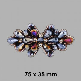APLIQUE PEDRERIA 858034.000.1927 MULTI 75x35 mm.