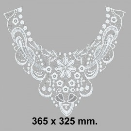 CUELLO BORDADO 584607.000.0001 BLANCO 365x325 mm.