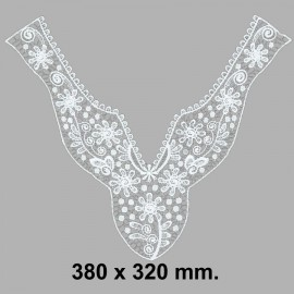 CUELLO BORDADO 584609.000.0001 BLANCO 380x320 mm.