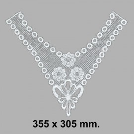 CUELLO BORDADO 584610.000.001 BLANCO 355x305 mm.