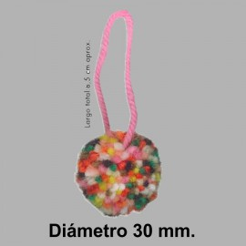 POMPÓN DE LANA 584427.030.9999 MULTICOLOR 30 mm.