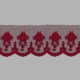 TUL BORDADO - EMBROIDERY I612 C.F1 BURDEOS 56 mm.
