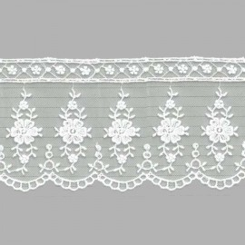 TUL BORDADO - EMBROIDERY I623 C.001 BLANCO 73 mm.
