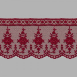 TUL BORDADO - EMBROIDERY I623 C.F1 BURDEOS 73 mm.