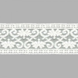 TUL BORDADO - EMBROIDERY I625 C.018 IVORY (MARFIL) 55 mm.