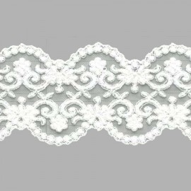 TUL BORDADO - EMBROIDERY I626 C.001 BLANCO 77 mm.