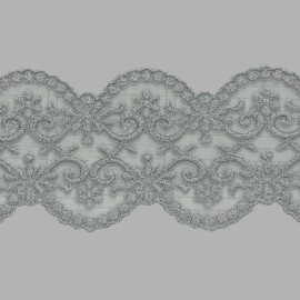 TUL BORDADO - EMBROIDERY I626 C.064 GRIS 77 mm.