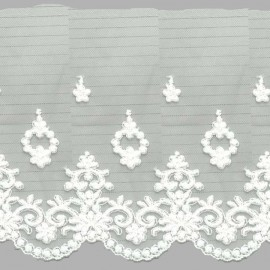 TUL BORDADO - EMBROIDERY I632 C.001 BLANCO 148 mm.
