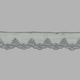 TUL BORDADO - EMBROIDERY I621 C.064 GRIS 31 mm.