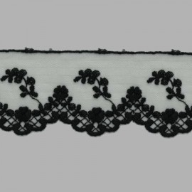 TUL BORDADO - EMBROIDERY I617 C.014 NEGRO 62 mm.