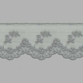 TUL BORDADO - EMBROIDERY I617 C.064 GRIS 62 mm.