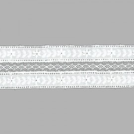 TIRA BORDADA-EMBROIDERY ALGODÓN I541 C.001 BLANCO 45 mm.