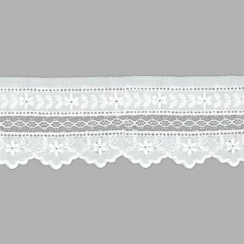 TIRA BORDADA-EMBROIDERY ALGODÓN I543 C.001 BLANCO 53 mm.