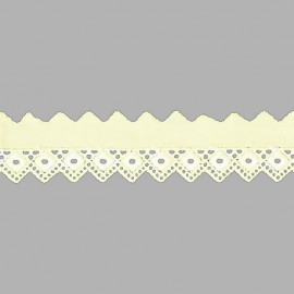PUNTILLA DE TIRA BORDADA - EMBROIDERY I814 C.002 BEIGE 25 mm.