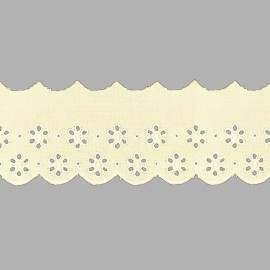 PUNTILLA DE TIRA BORDADA - EMBROIDERY I592 C.002 BEIGE 55 mm.