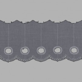 PUNTILLA DE TIRA BORDADA - EMBROIDERY I697 C.064 GRIS 70 mm.