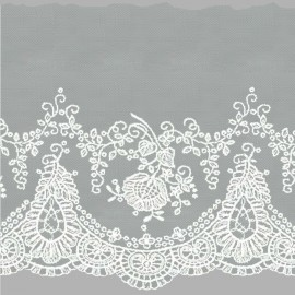 TUL BORDADO - EMBROIDERY I746 C.001 BLANCO 160 mm.