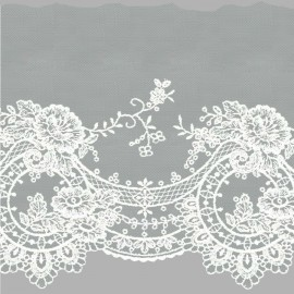 TUL BORDADO - EMBROIDERY I744 C.001 BLANCO 160 mm.