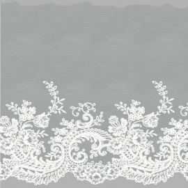 TUL BORDADO - EMBROIDERY I742 C.001 BLANCO 160 mm.