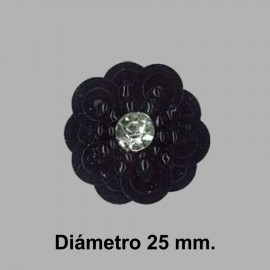 FLOR PAILLETES ROCALLA 858082.000.0002 NEGRO 20 mm.
