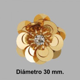 FLOR PAILLETES ROCALLA 858083.000.0100 ORO 30 mm.