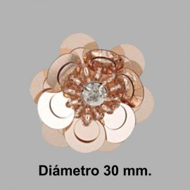 FLOR PAILLETES ROCALLA 858083.000.0104 COBRE 30 mm.