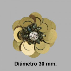 FLOR PAILLETES ROCALLA 858083.000.0105 PAVONADO 30 mm.