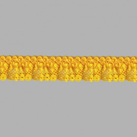 FRUNCIDO DE NYLON 074016 C.006 AMARILLO 23 mm.