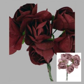 RAMILLETE 6 FLORES 309607.000.0060 GRANATE 65x60 mm.