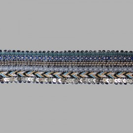 PASAMANERIA TRENZA PERLA 115106.000.0001 MULTICOLOR 35 mm.