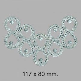 APLIQUE TERMO STRASS 752057.000.001 117x78 mm.