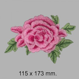 APLIQUE FLOR BORDADA 665325.000.0007 Rosa 115x173 mm.
