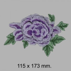 APLIQUE FLOR BORDADA 665325.000.0021 MORADO 115x173 mm.