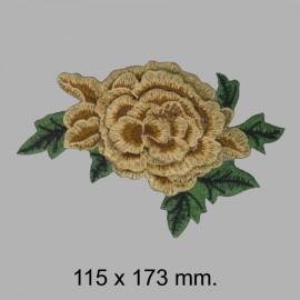 APLIQUE FLOR BORDADA 665325.000.0025 Marrón 115x173 mm.