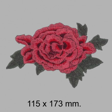 APLIQUE FLOR BORDADA 665325.000.0037 ROJO 115x173 mm.