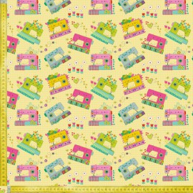 TELA DE PATCHWORK BLEND FABRICS - HOME GROWN TIME TO SEW YELLOW