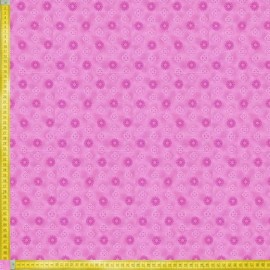 TELA DE PATCHWORK FABRI QUILT - BUDDING BEAUTIES SMALL MEDALLION PINK