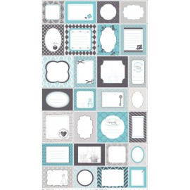 TELA PATCHWORK RILEY BLAKE - SEW LABES BLUE